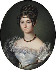 Miniature of Anna Adamowa Czartoryska née Sapieha (1799-1864).
