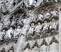 France Rouen Cathedral sculpture on facade a.JPG