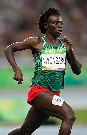 Francine Niyonsaba - Niyonsaba at the 2016 Olympics