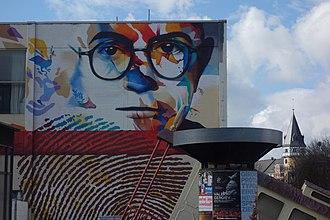 Theodor W. Adorno - Adorno mural in Frankfurt