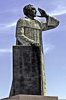 An image of Montesinos' statute in Santo Domingo
