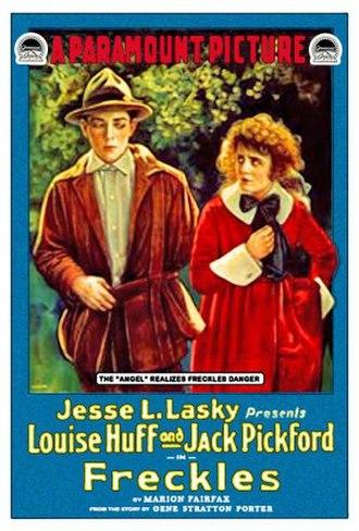Freckles (novel) - Poster for Freckles (1917) starring Jack Pickford