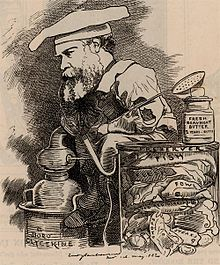 Caricature of Barff published in Punch, 1882