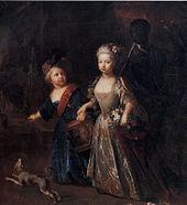 Friedrich (links) mit seiner Lieblingsschwester Wilhelmine (Gemälde von Antoine Pesne) (Quelle: Wikimedia)