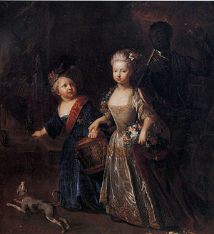 Wilhelmine of Prussia, Margravine of Brandenburg-Bayreuth - Wilhelmine with her brother Frederick, as children