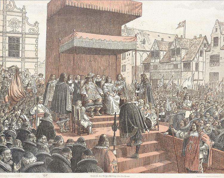 File:Frederik den 3.´s hyldning som arvekonge (9288938193).jpg - Wikimedia Commons
