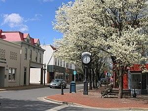 Front Royal, Virginia - Main Street in Front Royal, April 2009.