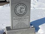 Front Traders Rest station marker, Jan 08.jpg
