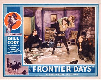 Bill Cody (actor) - Frontier Days lobby card