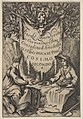 Frontispiece from 'Fiesole Destroyed' ('Fiesole Distrutta'), two seated women, one wearing a laurel wreath and the other wearing a hat crowned with laurel, with the Medici arms and the crown of the grand duchy above MET DP833461.jpg