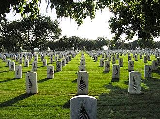 Fort Sam Houston National Cemetery - Fort Sam Houston National Cemetery, Memorial Day, 2010.