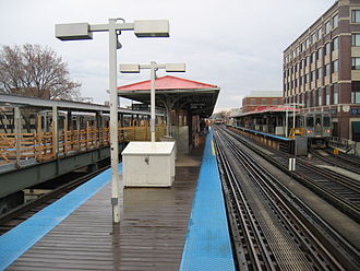 Fullerton station (CTA) - Fullerton station prior to the demolition of the original northbound island platform