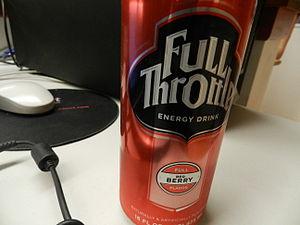 Full Throttle (drink) - A red berry flavored Full Throttle drink