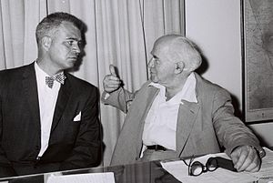 G. Mennen Williams - G. Mennen Williams with Israeli Prime Minister David Ben-Gurion in Tel Aviv, October 1, 1959
