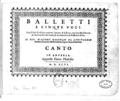 G Gastoldi Balletti a cinque voci canto title page.png