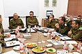 Gadi Eizenkot meets with senior officers in IDF military's Southern Command, November 2018.jpg
