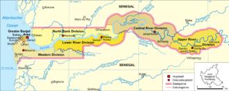 Gambia-karte-politisch