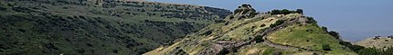 Gamla (Golan Heights) banner Archaeology site.jpg