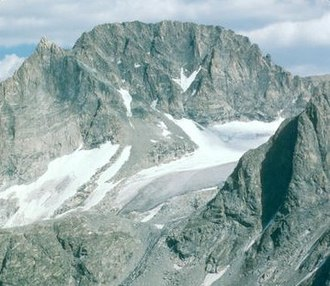 Gannett Peak - West face of Gannett Peak