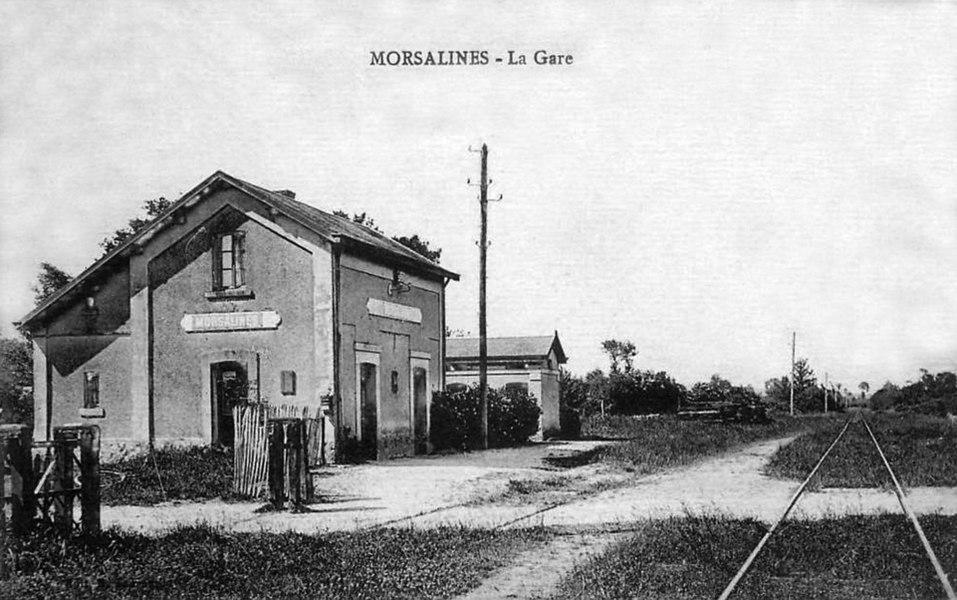L'ancienne gare de Morsalines sur le chemin de fer de Valognes à Barfleur.