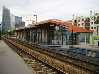 railway station in Courbevoie, France