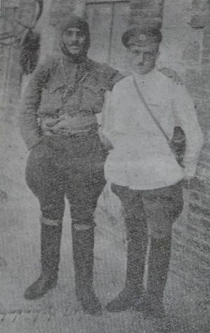 Garegin Nzhdeh - General Garegin Nzhdeh and Colonel Ruben Narinian in fall 1920