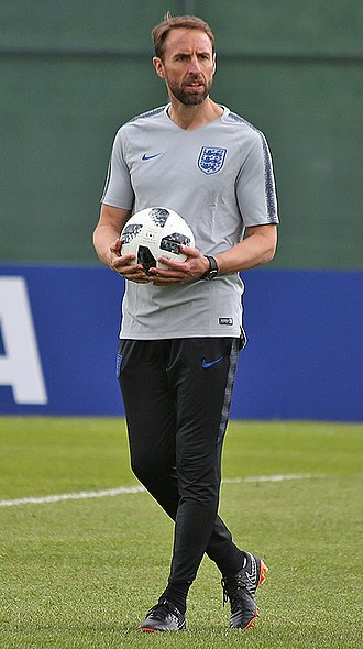 Gareth Southgate - Southgate with England at the 2018 FIFA World Cup
