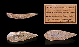Scraper (archaeology) stone hand-tool