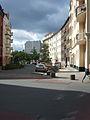 Gebogene Häuserfronten in der Taborstraße.JPG