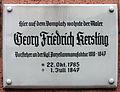 Gedenktafel Domplatz (Meißen) Georg Friedrich Kersting.jpg