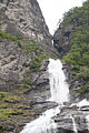 Geiranger, the Suitor waterfall, coming from a fissure in the rock wall-2.jpg