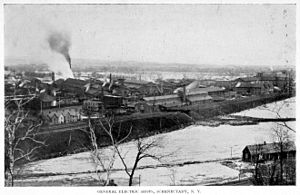 General Electric - General Electric in Schenectady, NY, aerial view, 1896