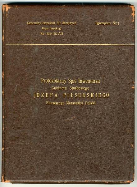 File:Generalny Inspektor Sił Zbrojnych - Protokólarny Spis Inwentarza Gabinetu Służbowego Józefa Piłsudskiego Pierwszego Marszałka Polski - 701-001-114-001.pdf