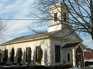 Central Geneva Historic District - Geneva Unitarian Church, cited as an excellent example of Greek Revival architecture.