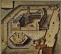 Gent Prinsenhof - ingekleurde gravure van Antonius Sanderus uit 1641.jpg