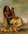 George Catlin - Wáh-chee-te, Wife of Cler-mónt, and Child - 1985.66.30 - Smithsonian American Art Museum.jpg