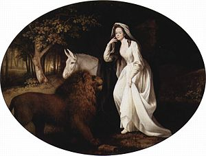 History of fantasy - Portrait of Isabella Saltonstall as Una, a character from The Faerie Queene, by George Stubbs.
