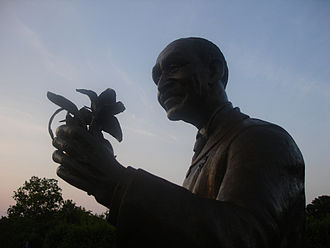 A monument to Carver at the Missouri Botanical Garden in St. Louis George Washington Carver-Bush Gardens Monument.jpg