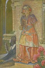 Une Figure de terre cuite de Saint-Sernin aux Augustins