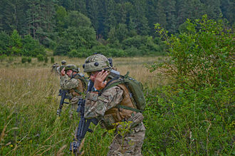 Defense Forces of Georgia - Soldiers of the Batumi Separate Infantry Battalion exercise in Hohenfels, Germany, 2013