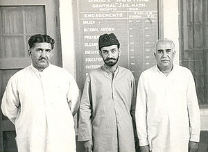 Gul Khan Nasir - Mir Gul Khan Nasir (Left), Sardar Ataullah Mengal (Middle) and Mir Ghaus Bakhsh Bizenjo (Right)