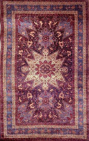 Armenian carpet - The Armenian Orphan rug also known as the Ghazir rug