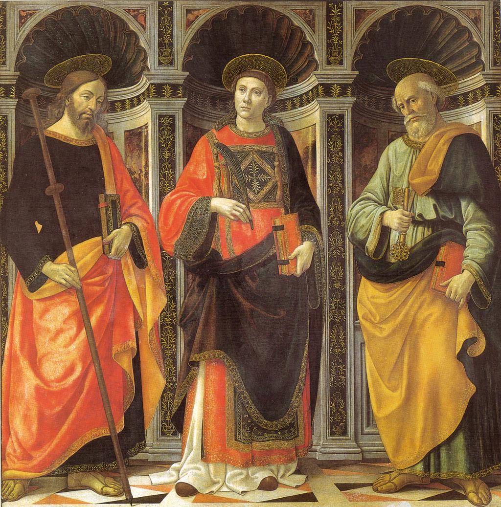 Ghirlandaio, Santo Stefano tra i santi Jacopo e Pietro, accademia