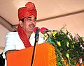 Ghulam Nabi Azad addressing at the foundation stone laying ceremony of an Outreach Out Patient Department (OOPD) as first phase of All India Institute of Medical Sciences (AIIMS-II), at Village Badhsa, in Jhajjar district.jpg