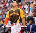 Giancarlo Stanton competes in semis of '16 T-Mobile -HRDerby. (28496643091).jpg