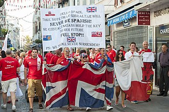 Territorial evolution of the British Empire - Gibraltar National Day celebrations in 2013