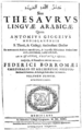 Giggeo Thesaurus Arabicae cover.PNG