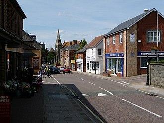 Gillingham, Dorset - Image: Gillingham, High Street geograph.org.uk 1434129