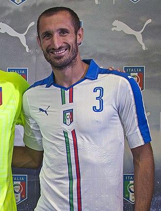 Giorgio Chiellini - Chiellini with the Italy national team in 2015.