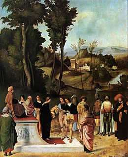 Giorgione, Moses Undergoing Trial by Fire.jpg